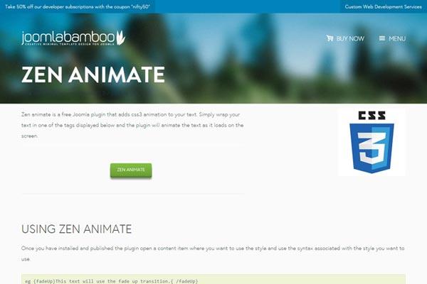 JB Zen Animate - joomla plugin