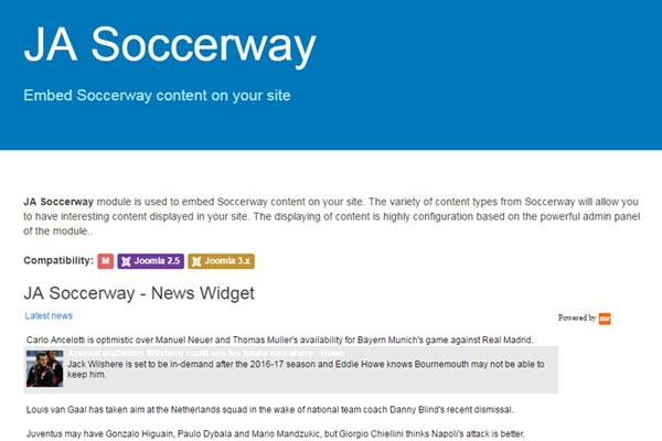 Soccerways News