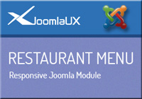 JUX 3D Restaurant Menu