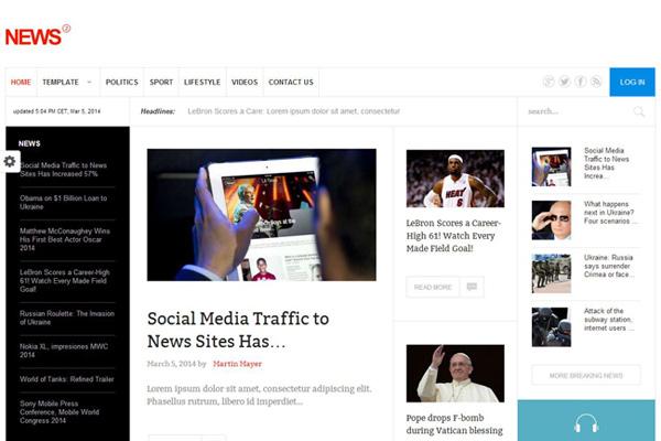 GK News 2 v3.21.3 - outstanding joomla template for news and portals ...