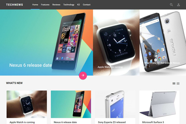 Boasting Innovative Layout Design Inspired By Google Material Technews Is A Multi Talented Joomla Template That Can Be Used As Base For Range Of
