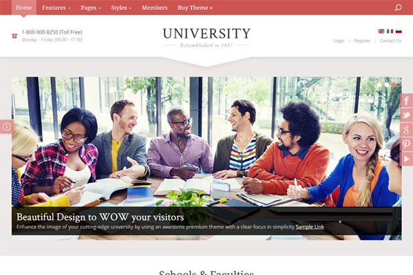 Enhance The Image Of Your Cutting Edge University School Or Insution By Using An Awesome Premium Theme With A Clear Focus In Simplicity And Beauty