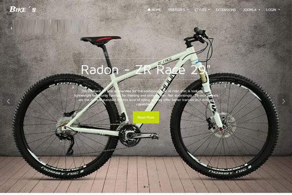 jp bike joomla template