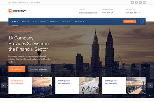 JA Company V Creative And Powerful Joomla Template - Joomla landing page template