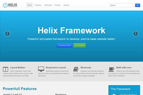 JS Helix II v2 6 - free joomla template for universal websites