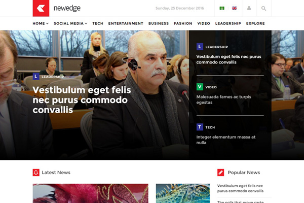 Js Newedge Joomla Template