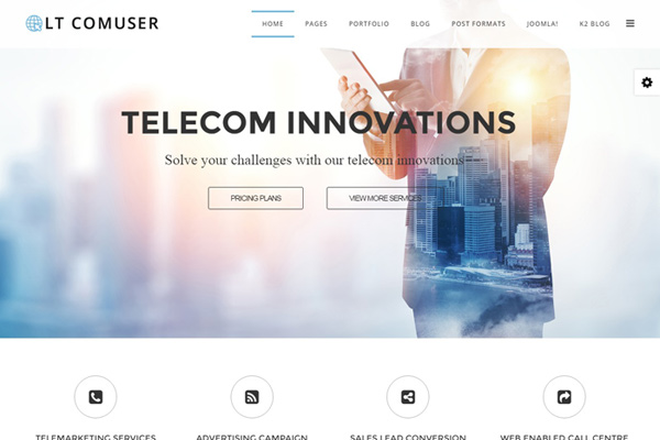 LT Comuser v1.0 - business hi-tech joomla template