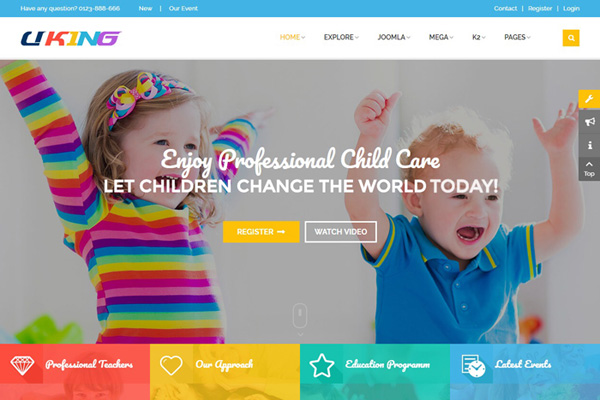 Kids land (kindergarten) joomla theme | gridgum.