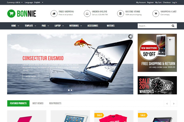 Vina Bonnie Is A Premium Responsive Multipurpose Virtuemart 3 Template Which Perfectly Fits For Any Ecommerce Website It Comes Packed With Features And