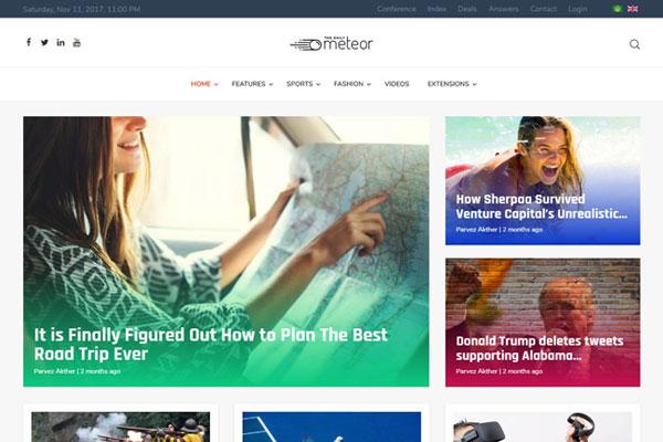 TX Meteor V Clean Joomla Template For News And Portals Websites - Venture capital website template